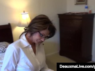 Texas mummy Deauxma Painless A Census Taker drills Brooke Tyler! free coition
